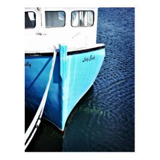 Barco de pesca en la ensenada de Peggy Postal