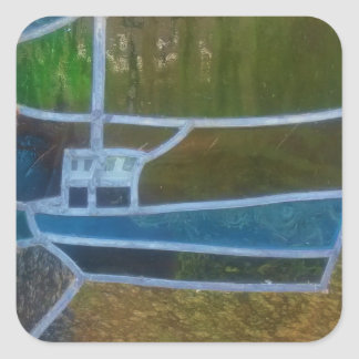 Barco de pesca en vitral en Cadgwith Cornualles