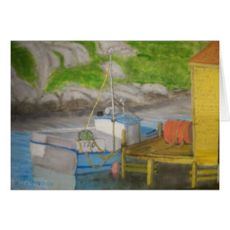 Barco de pesca - ensenada de Peggys Tarjeta De Felicitación