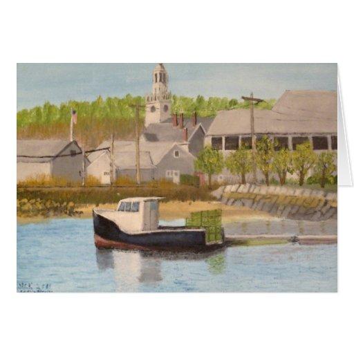 Barco de pesca - Massachusetts de Rockport Tarjeta De Felicitación