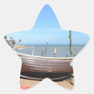 Barco de pesca Mona Lisa Pegatina En Forma De Estrella