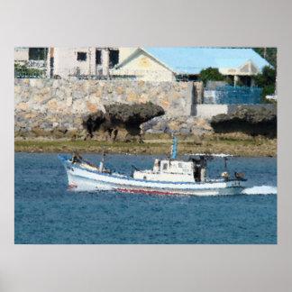 Barco de pesca posters