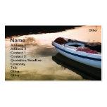 Barco de pesca plantilla de tarjeta personal