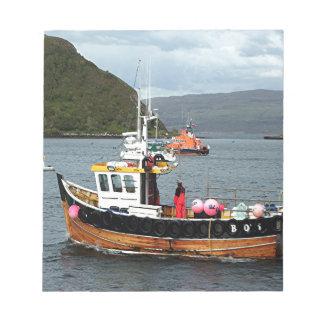 Barco de pesca, Portree, isla de Skye 2 Blocs De Notas