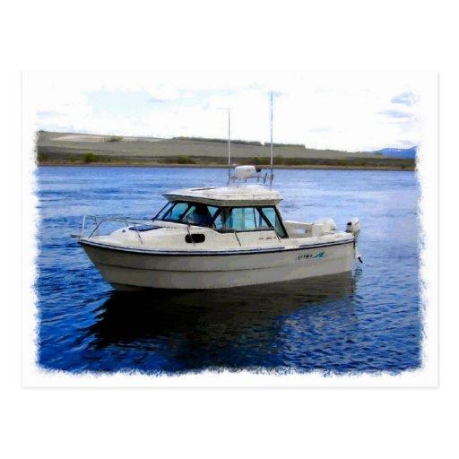 Barco de pesca postal