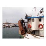 Barco de pesca postales