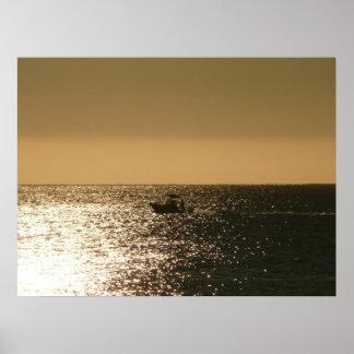 Barco de pesca póster