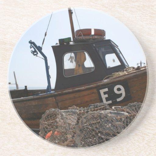 Barco de pesca, Sidmouth, Devon, Reino Unido Posavasos Personalizados