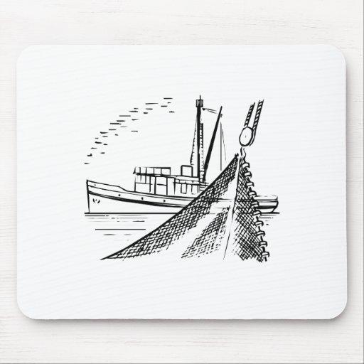Barco de pesca tapete de ratón