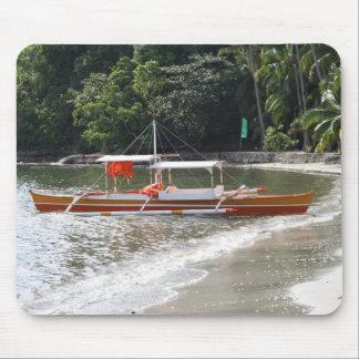 Barco de pesca alfombrilla de ratones