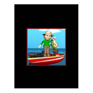 Barco de pesca tarjeta postal