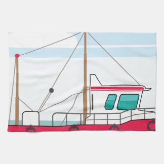 Barco de pesca toallas de cocina
