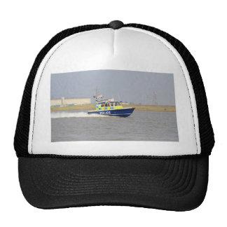 Barco de policía de alta velocidad gorros bordados
