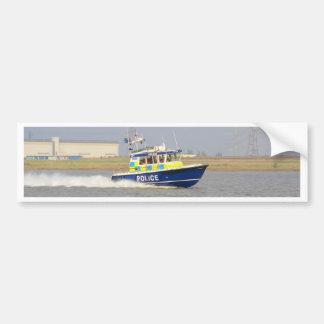 Barco de policía de alta velocidad pegatina para auto