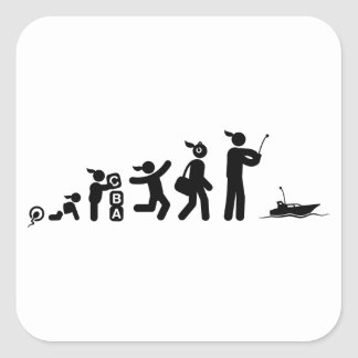 Barco de RC Pegatina Cuadrada