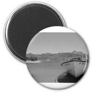 barco de río del bw imán redondo 5 cm