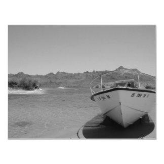 """barco de río del bw invitación 4.25"""" x 5.5"""""""