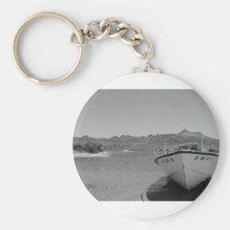 barco de río del bw llavero redondo tipo pin