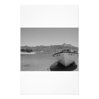 barco de río del bw personalized stationery