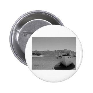 barco de río del bw pin redondo 5 cm