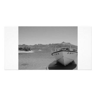 barco de río del bw tarjetas personales