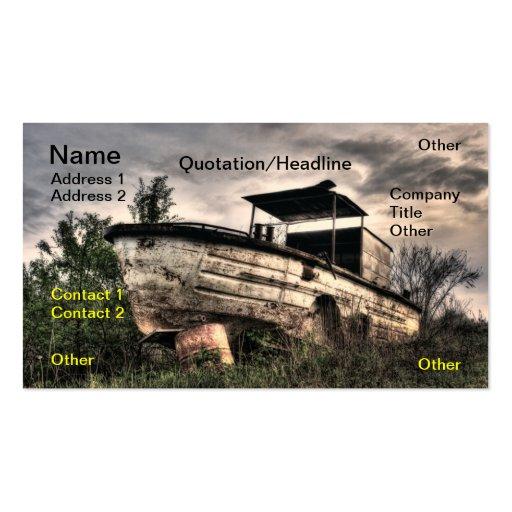 Barco de río tarjeta de visita