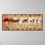 Barco de Rowing de los fans de deportes del vintag Impresiones