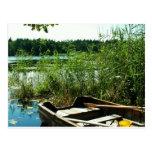 Barco de Rowing de madera Tarjeta Postal