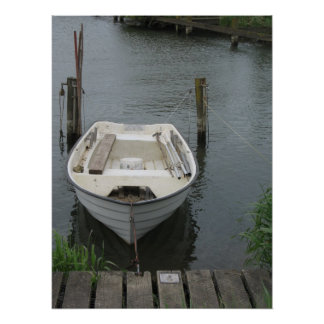 Barco de Rowing en arte del poster de la foto del