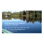 Barco de Rowing en el lago inmóvil Tarjeta De Visita