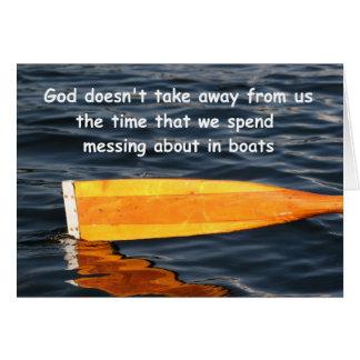 Barco de Rowing que dice, tarjeta adaptable