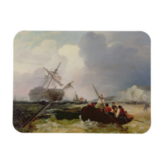 Barco de Rowing que va a la ayuda de una guerra de Imán Rectangular