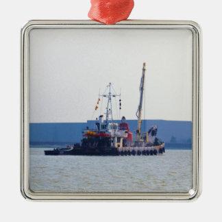 Barco de salvamento Hookness Adorno Navideño Cuadrado De Metal