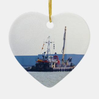 Barco de salvamento Hookness Adorno Navideño De Cerámica En Forma De Corazón