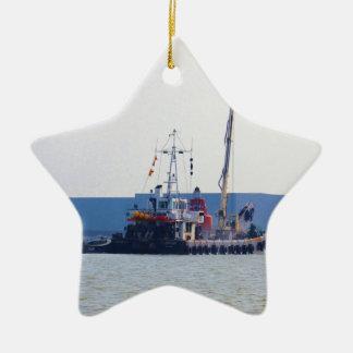 Barco de salvamento Hookness Adorno Navideño De Cerámica En Forma De Estrella