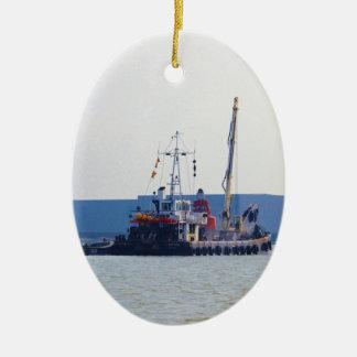 Barco de salvamento Hookness Adorno Navideño Ovalado De Cerámica