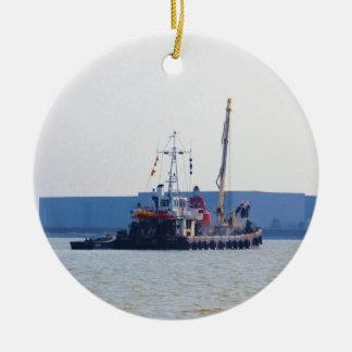 Barco de salvamento Hookness Adorno Navideño Redondo De Cerámica