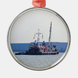 Barco de salvamento Hookness Adorno Navideño Redondo De Metal