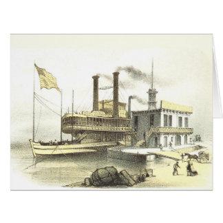 """Barco de vapor """"ciudad de Mississippi de Memphis"""", Felicitacion"""
