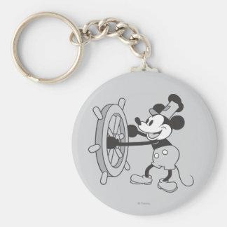 Barco de vapor clásico Willie de Mickey el | Llavero Redondo Tipo Pin