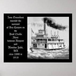 Barco de vapor de Ione circa las ilustraciones ori Impresiones