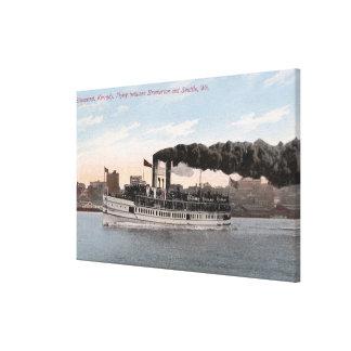 Barco de vapor de Kennedy que se va para Bremerton Impresión En Lienzo