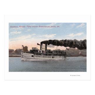 Barco de vapor de Kennedy que se va para Bremerton Tarjeta Postal