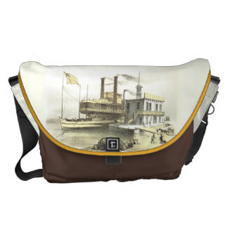 Barco de vapor de Mississippi la ciudad de Bolsa Messenger