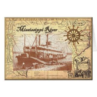 Barco de vapor del río Misisipi Felicitacion