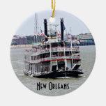 Barco de vapor en el río Misisipi Adornos De Navidad
