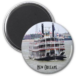 Barco de vapor en el río Misisipi Imán De Frigorífico