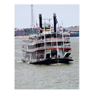 Barco de vapor en el río Misisipi Postales
