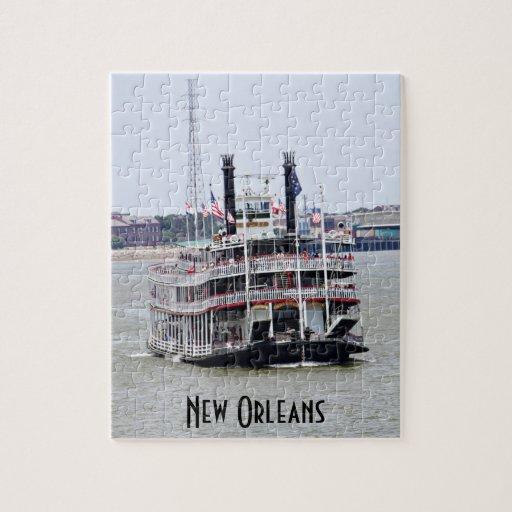 Barco de vapor en el río Misisipi Puzzle Con Fotos