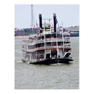 Barco de vapor en el río Misisipi Postal